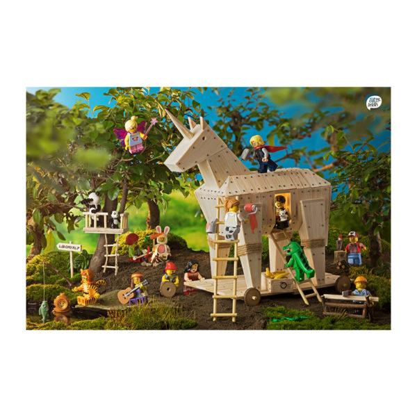 Legografie-Wimmelbild Trojanisches Einhorn