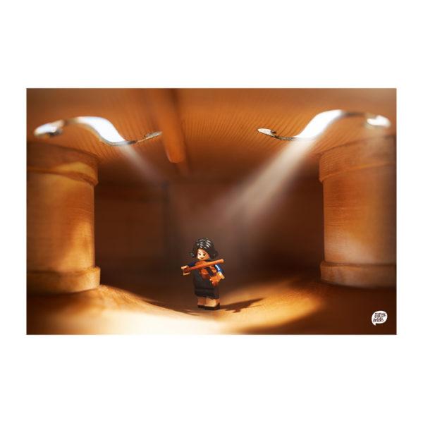 Johanna Geigenspielerin in einer Geige