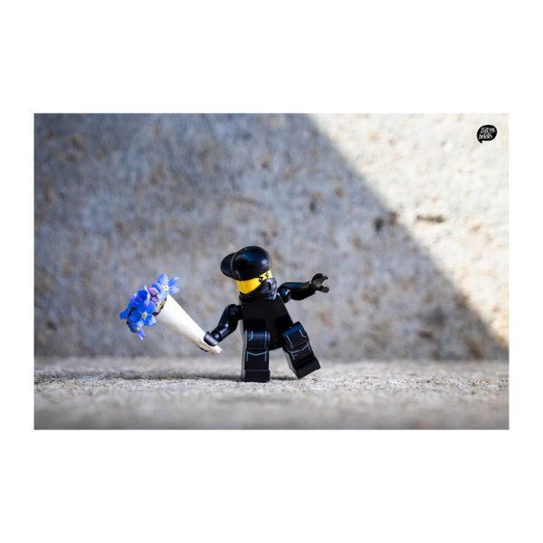 Be Careful - Banksy Flower Thrower
